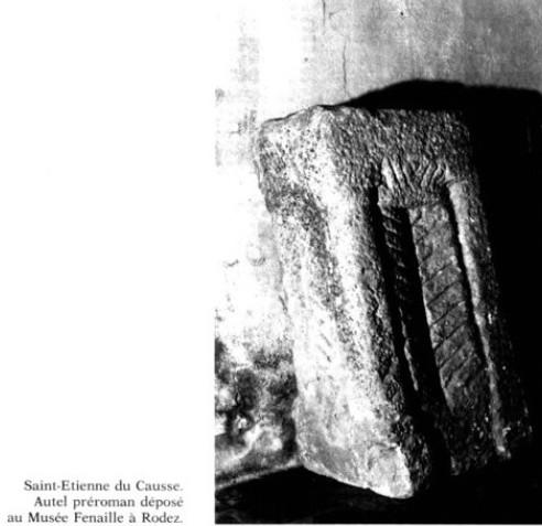 Autel Saint Etienne des Causses SARAC